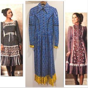 Vtg 60's Prairie Hippie Dress